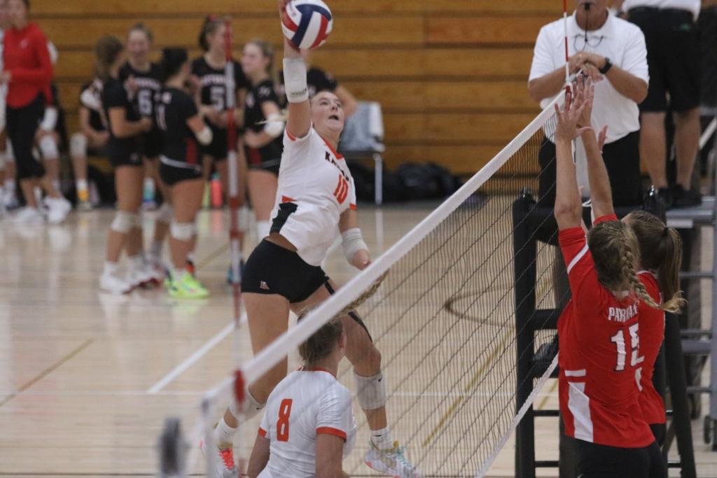 The Kaukauna girls' volleyball team won its second Fox Valley Association match of the season Thursday, beating Oshkosh West 3-1.The...